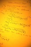 数学文本 库存图片