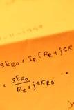 数学文本 库存照片
