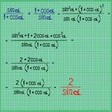数学有差别的表达式 免版税库存图片