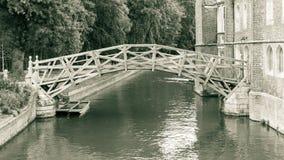 数学桥梁,黑白摄影 库存照片