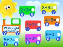 数学的比赛 库存例证