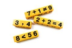数学的活动 免版税库存照片