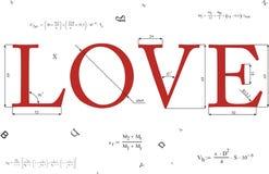 数学的爱 免版税库存照片