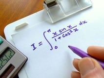 数学的等式 免版税库存图片