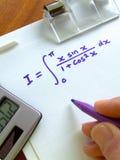 数学的等式 库存照片