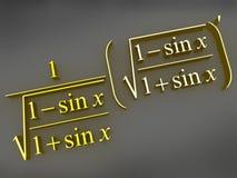 数学的配方 皇族释放例证