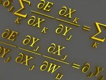 数学的配方 向量例证