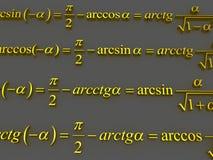 数学的配方 库存图片