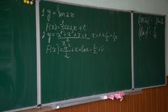 数学的配方 免版税库存图片