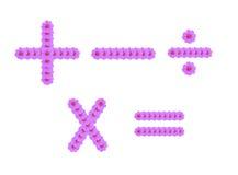 数学符号,波斯菊查出的花符号 库存图片