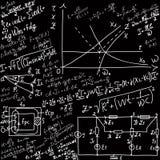 数学等式和配方 向量例证