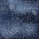 数学等式和配方 库存例证