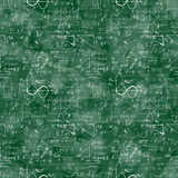 数学运算和等式的无缝的样式 免版税库存图片
