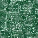 数学运算和等式的无缝的样式 免版税图库摄影