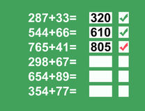 数学题 库存照片