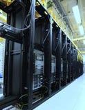 数据中心机架和堆与颜色作用 库存图片
