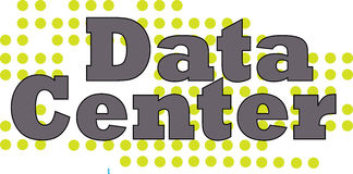 数据中心词概念性例证 库存图片