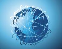 数据传输量宽世界 库存例证