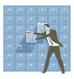 数据保护和安全例证 图库摄影