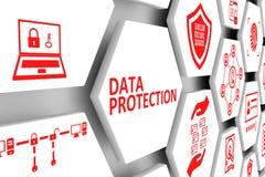 数据保护概念细胞背景 库存例证