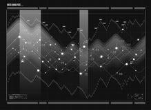数据分析形象化 视觉数据复杂性 社会网络表示法 免版税库存图片