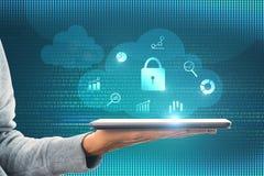 数据和保护概念 免版税库存照片