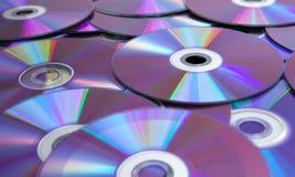 数据和DVDs 免版税库存照片