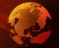 数据地球 免版税库存照片