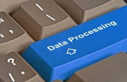 数据处理的钥匙 免版税库存图片