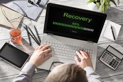 数据备份恢复补救恢复浏览计划网络 免版税库存图片