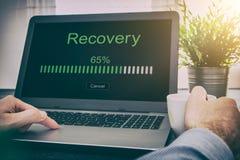 数据备份恢复补救恢复浏览计划网络 库存图片