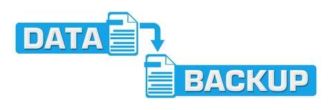 数据备份蓝色中心标志 免版税库存图片