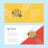 数据库公文包摘要公司业务横幅模板,水平的广告业横幅 向量例证