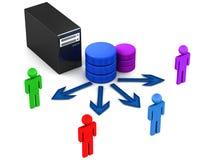 数据库服务器用户 皇族释放例证