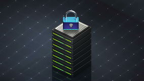 数据库标志和安全 数据库服务器 皇族释放例证