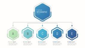 数据形象化的Iinfographic模板 5个选择 免版税图库摄影