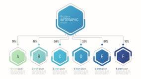 数据形象化的Iinfographic模板 6个选择 免版税库存图片