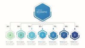 数据形象化的Iinfographic模板 7个选择 库存照片