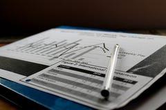 数据形象图表  免版税库存照片