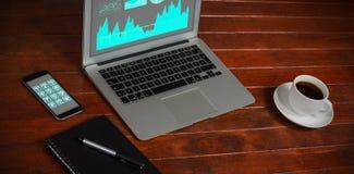 数据接口的综合图象 免版税图库摄影