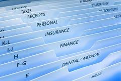 数据文件私有信息的保险 库存图片