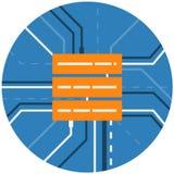 数据服务器存贮摘要象 计算的云彩,网络技术 免版税库存图片