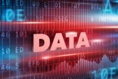 数据概念背景 免版税库存照片