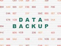 数据概念:在墙壁背景的数据备份 免版税库存照片