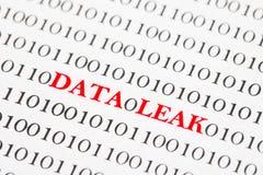 数据泄漏二进制编码 免版税库存图片