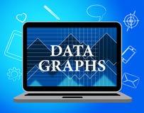 数据注标手段统计图和字节 免版税图库摄影