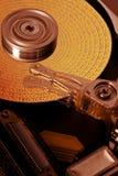 数据盘被象征的坚硬开放 图库摄影