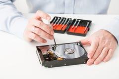 数据硬盘备用圆盘hdd盘恢复 免版税库存图片