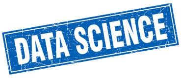 数据科学正方形邮票 皇族释放例证