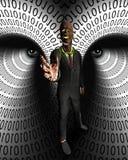 数据窃贼 免版税图库摄影